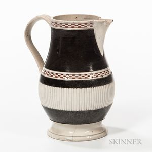 Pearlware Slip-banded Milk Jug