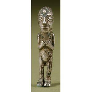 Pre-Columbian Cast Silver Figure