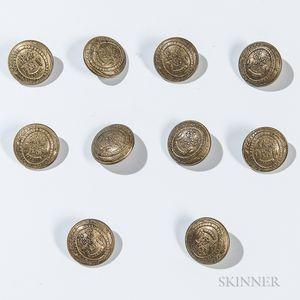 Ten Connecticut Militia Buttons