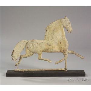 "Molded Sheet Copper ""Black Hawk"" Trotting Horse Weather Vane"