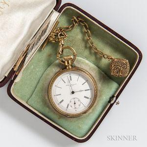 Albert Montandon 18kt Gold Open-face Watch