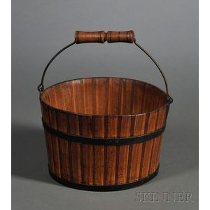 Small Shaker Striped Wooden Pail