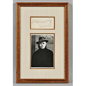Bartok, Bela (1881-1945) Signature with Musical Phrase.