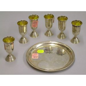 Israeli Silver Judaic Kiddush Set