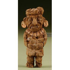 Pre-Columbian Carved Wood Figure