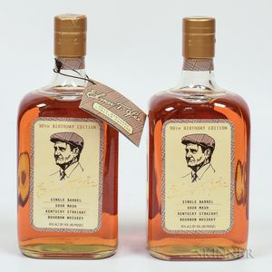 Elmer T Lee Single Barrel 90th Birthday Edition, 2 750ml bottles