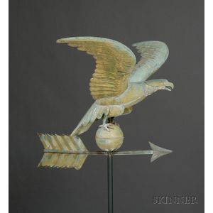 Molded Copper Eagle Weathervane
