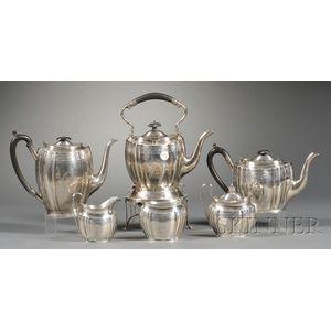 Six-piece Edward VII/George V Silver Tea and Coffee Service