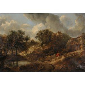 After Thomas Gainsborough (British, 1727-1788)      Landscape in Suffolk.