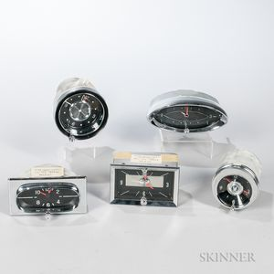 Five New 1950-60s Automobile Clocks