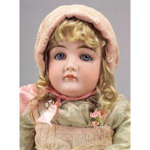 Large Kestner Closed Mouth Bisque Socket Head Doll
