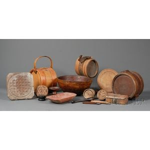 Seventeen Assorted Early Wooden Items