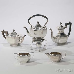 Five-piece Birks Sterling Silver Tea and Coffee Service