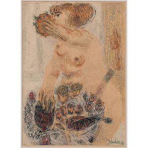 Bernard Reder (New York, 1897-1963)      Still Life & Standing Nude
