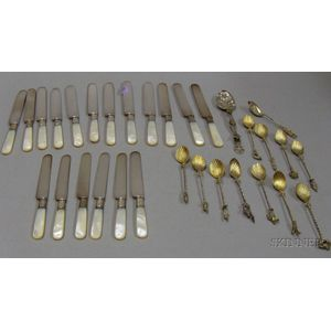 Mother-of-pearl Handled Knives and Spoons
