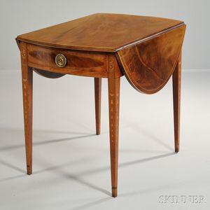 Inlaid Mahogany Pembroke Table