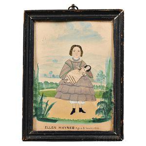 American School, Mid-19th Century      Portrait of Ellen Haynes