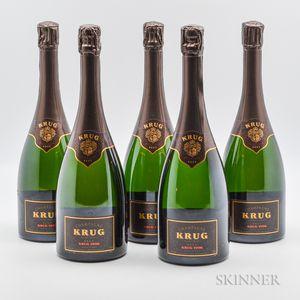 Krug Vintage Brut 1996, 5 bottles