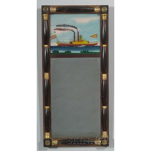 Gilt and Black Painted Split Baluster Mirror
