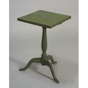 Apple Green-painted Candlestand