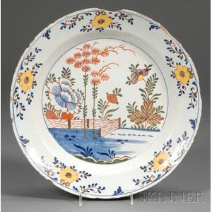 Polychrome-decorated Delftware Charger