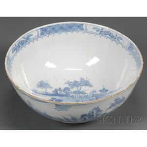 Chinoiserie-decorated Delft Bowl