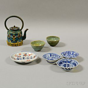 Seven Decorative Tableware Items