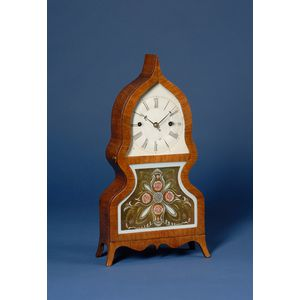 Rosewood Veneered Acorn Shelf Clock by Forestville Manufacturing Company