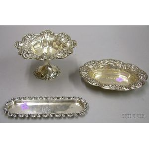 Three Sterling Silver Table and Dresser Items