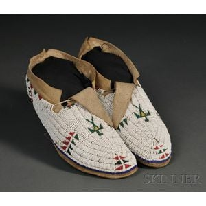 Central Plains Beaded Hide Moccasins