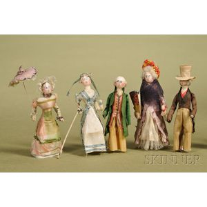 Five Piano Dancing Dolls