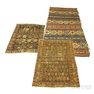Two Shirvan Prayer Rugs and a Kilim