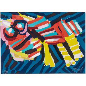 Karel Appel (Dutch, 1921-2006)      Head Like an Animal