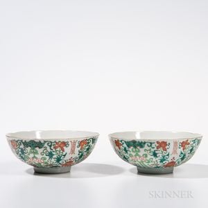 Pair of Famille Rose Bowls