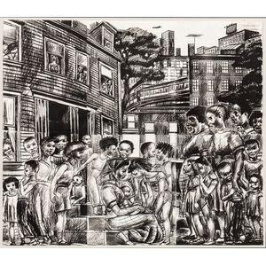 Allan Rohan Crite (American, 1910-2007)      Neighborhood Madonna