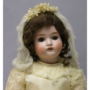 German Bisque Head 182 Girl Doll