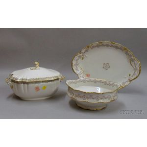 Three Large Limoges Serving Pieces