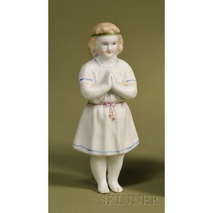 Frozen Parian Praying Child