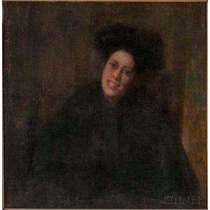 Robert Wilton Lockwood (American, 1861-1914)    Tonal Portrait of a Woman