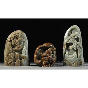 Three Jade Boulders