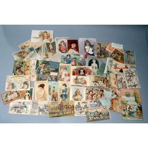 Approximately Fifty Victorian Trade Cards