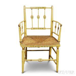Paint-decorated Fancy Armchair