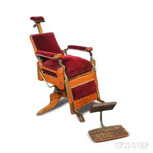 Kochs Velvet-upholstered Oak Barber