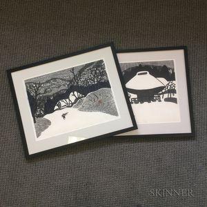 Two Kiyoshi Saito (1907-1997) Woodblock Prints