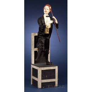 Unique Automaton of a Dancer on a Chair by Henry Phalibois