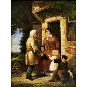 American School, 19th Century      An Unexpected Visitor