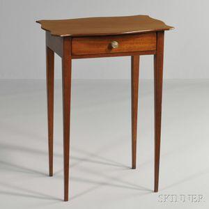 Mahogany One-drawer Stand