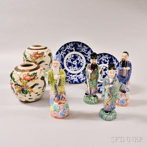 Eight Asian Decorative Ceramic Items