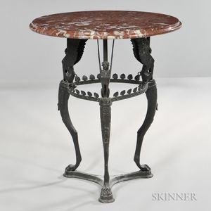 Egyptian Revival-style Marble-top Table