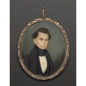 Cased Portrait Miniature on Ivory